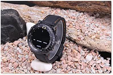 black Suunto Core Bell & Ross Rubber Silicone Tactical Strap Band+Adapter+Buckle lugs