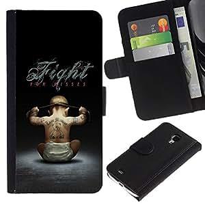 All Phone Most Case / Oferta Especial Cáscara Funda de cuero Monedero Cubierta de proteccion Caso / Wallet Case for Samsung Galaxy S4 Mini i9190 // Fight For Kisses Funny