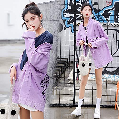 Jeans In Autunno Moda Sbl Viola Ricamata Da Donna Velluto Di Giacca Joker qRp06