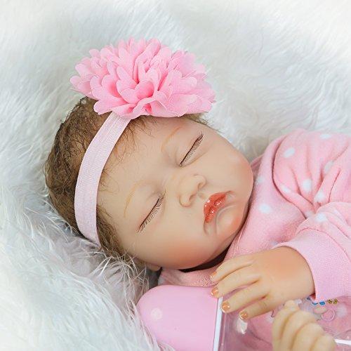 NPKDOLLS Reborn Baby Dolls Girl Reborn Dolls Lifelike Soft Vinyl Silicone Baby Doll Realistic Newborn Baby Babies 22 inch Children Gifts