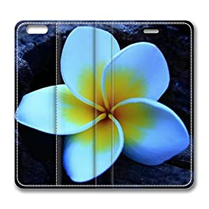 White Petals with Yellow Spots DIY Leather iphone 6 plus Case Perfect By Custom Service