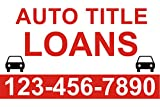Auto Loan Banner sign 3 x 2 Ft by Bannerbuzz