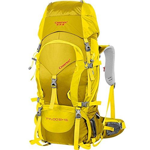 ZQ 2015 nuevos bolso profesional mochila mochila al aire libre 60L del alpinismo hombres bolsa a prueba de agua y las mujeres del bolso de hombro de senderismo , army green 60 l black 60 liters