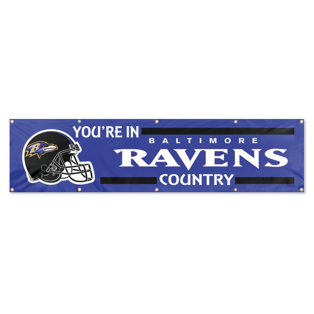 Party Animal Baltimore Ravens 8'x2' NFL Banner by Party Animal