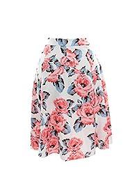 INC Womens Plus Floral Print Scuba A-Line Skirt Pink 22W