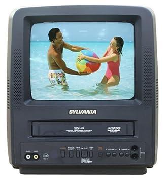 tv vcr. sylvania ssc092 9-inch portable tv/vcr combo tv vcr