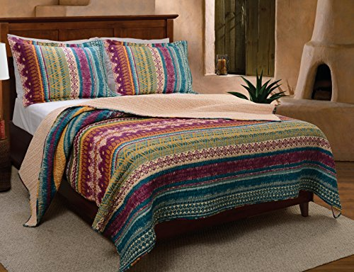 Greenland Home 3-Piece Southwest Quilt Set, Full/Queen