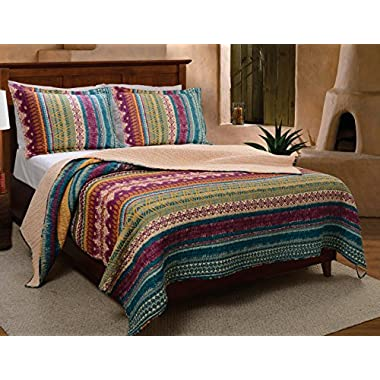 Greenland Home 3-Piece Southwest Quilt Set, King
