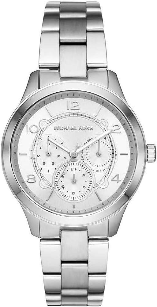Michael Kors Reloj Analógico para Mujer de Cuarzo con Correa en Acero Inoxidable MK6587