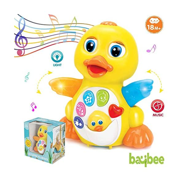 Baybee Dancing and Singing Musical Duck Toy – Infant, Baby and Toddler Musical and Educational Toy for Kids | Dancing Musical Toys for Kids Baby Infant Toddler