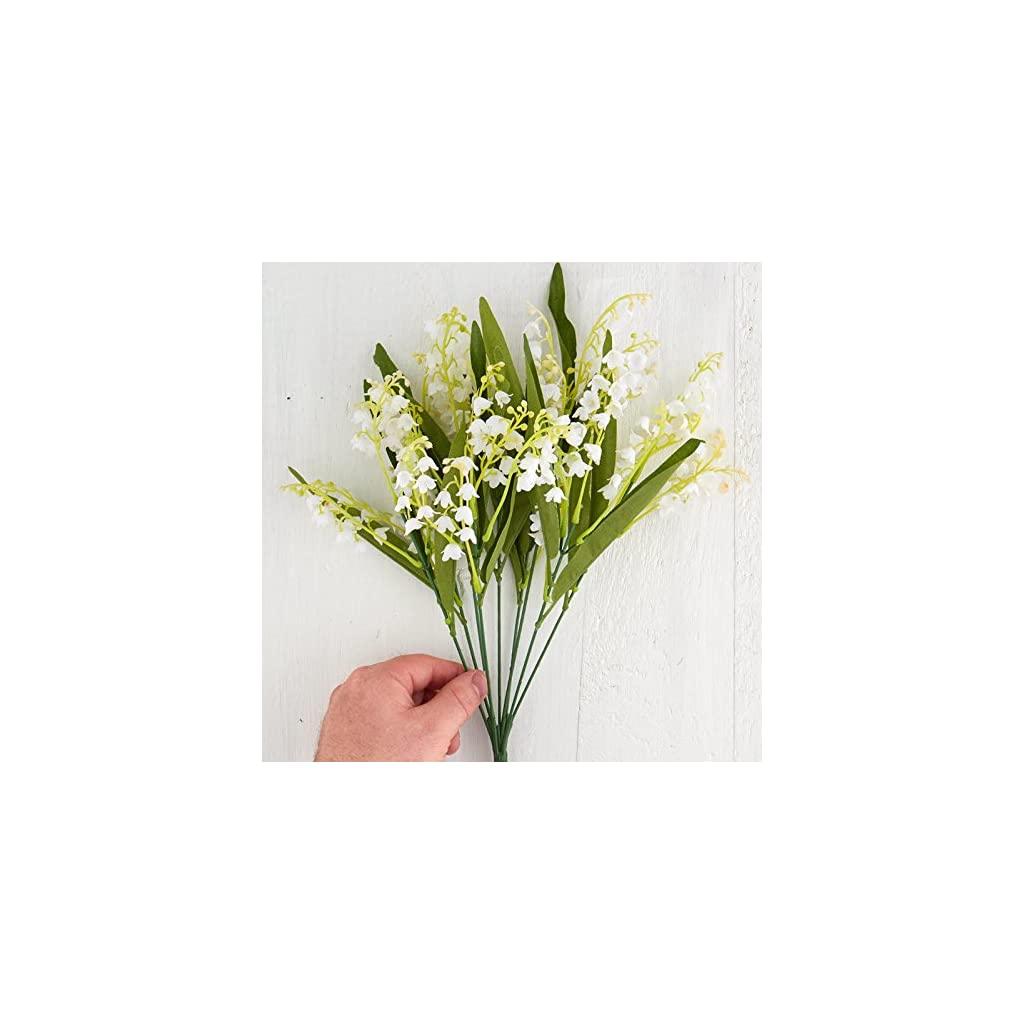 Factory Direct Craft Artificial Vinyl Lily of The Valley Bush for Indoor or Outdoor Decorating, Crafting and Displaying