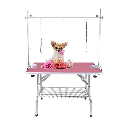 0ca0afaa501f PIG Mesa peluqueria canina Mesa plegable grande para peluquería de perros  para mascotas Brazo