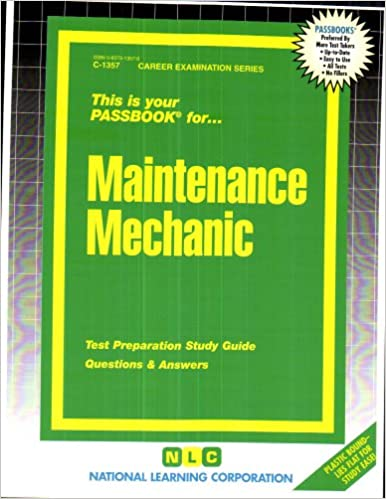 Maintenance Mechanic Passbooks Passbooks For Career