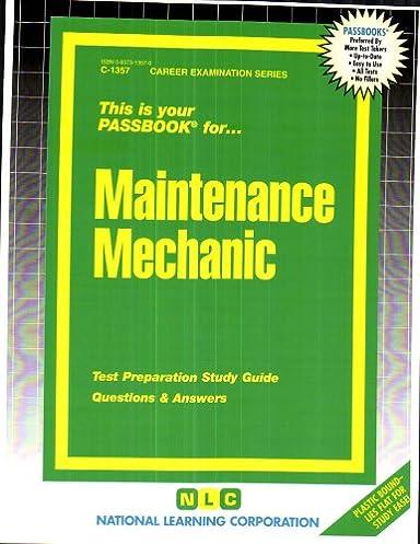 maintenance mechanic passbooks passbooks for career opportunities rh amazon com Social Study Exam Grade 7 Example Cicerone Exam Study Guide