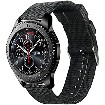 Samsung Gear S3 Classic/Frontier watch Band, Olytop 22mm Width Nylon Canvas Fabric Replacement Sport Strap Wristband for Moto 360 2nd Gen 46mm/LG G ...