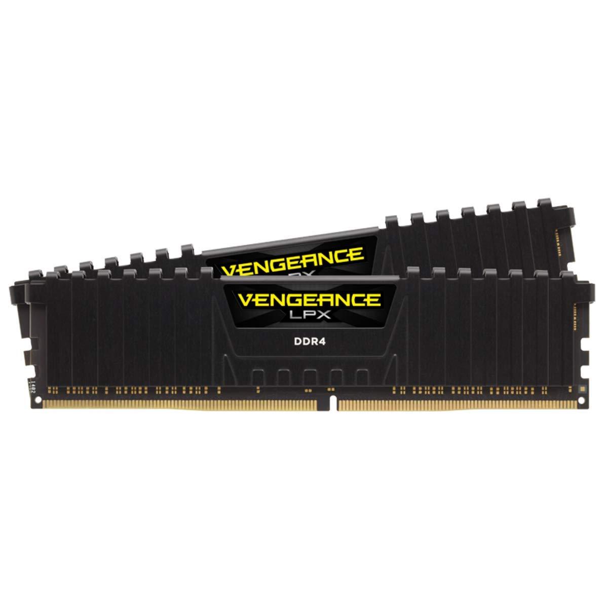 PC4-25600 Black C16 1.35V Desktop Memory 2 X 16GB DDR4 3200 Corsair Vengeance LPX 32GB