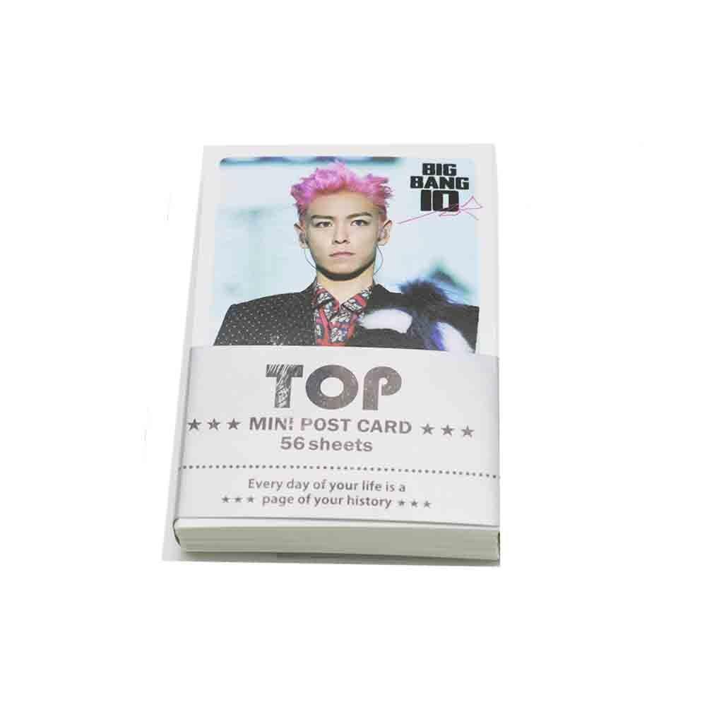 Bigbang top k-pop mini photo card set con extra cartolina (57PCS) MD print