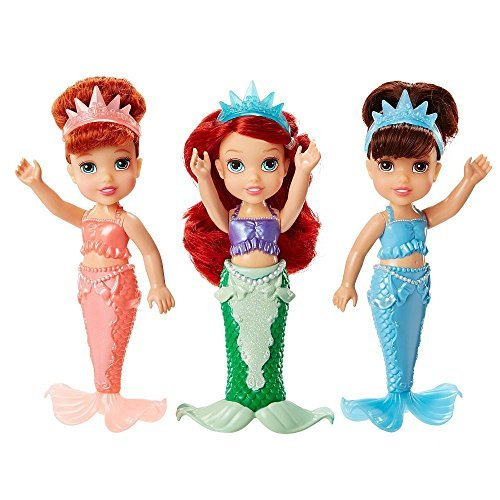 Ariel Barbie Doll - Tolly Tots Disney Princess Petite Toddler Ariel & Sisters Gift Set