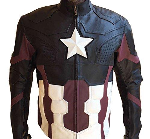 leather captain america jacket - 7