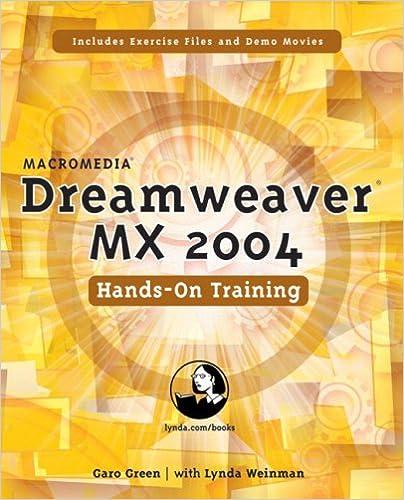 Macromedia Dreamweaver MX 2004 Hands-On Training: Garo Green
