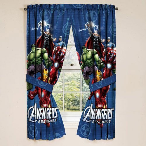 Avengers Marvel Assemble Window Panels Curtains Drapes Set Of 2: Amazon.ca:  Home U0026 Kitchen