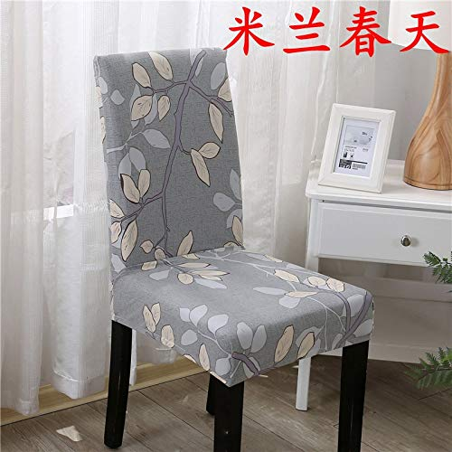 T-CYYT 2 Pieces Hotel Chair Set Stretch European Siamese Hotel Chair Set Restaurant Set Computer Chair Mat Stool Set, Milan Spring