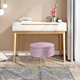 ERONE Round Storage Ottoman with Removable Cover