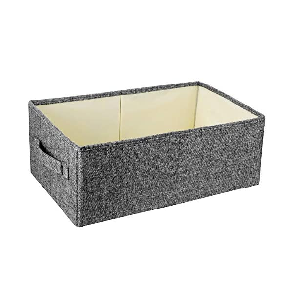 Foldable Storage Cubes Fabric Storage Bins Shelf Storage Bins Cubes for Blanket Towels Toilet Papers Clothes Kids Toys Storage Bins Basket Cloth Storage Cubes Grey