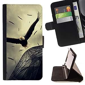 Momo Phone Case / Flip Funda de Cuero Case Cover - ?guila altísima Arquitectura Vuelo Potente - Sony Xperia M2