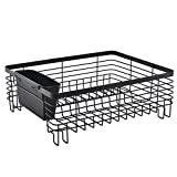 Best Commercial Steel Rust Proof Kitchen In Sink Side Draining Dish Drying Rack, Black Dish Rack