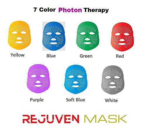 Led Face Mask - Rejuven Mask LED Light Therapy Mask for Anti-aging, Brightening, Improve Wrinkles. Tightening and Smoother Skin by Lift Care (Image #2)