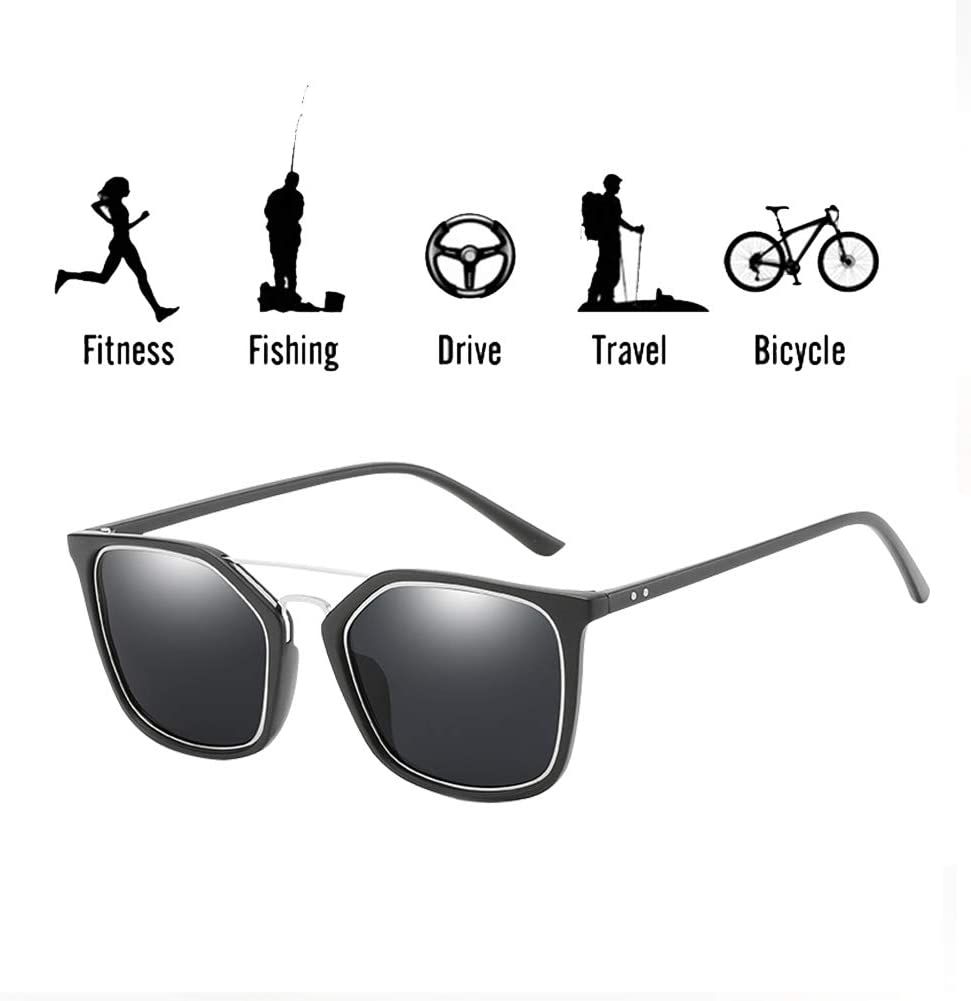 SCOBUTY Gafas de Sol,Gafas de Sol Deportivo Polarizados,Gafas de Sol Deportivas,Aire Libre Deportes Golf Ciclismo Pesca Senderismo UV400 Protección Gafas Unisex Golf Conducción Gafas Gafas de Sol