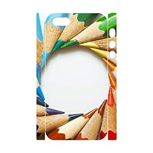3D Bumper Plastic Customized Case Of Art Pencil for iPhone 5,5S