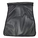 SGT KNOTS Mesh Bag USA Made (Medium) 550 Paracord Drawstring Bag - Ventilated Washable Reusable Stuff Sack for Laundry, Gym Clothes, Swimming, Camping, Diving, Travel (24 inch x 36 inch - Black)