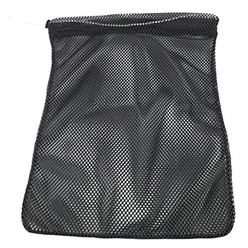 SGT KNOTS Mesh Bag USA Made (Large) 550 Paracord Drawstring Bag - Ventilated Washable Reusable Stuff Sack for Laundry, Gym Clothes, Swimming, Camping, Diving, Travel (30 inch x 40 inch - Black) ()