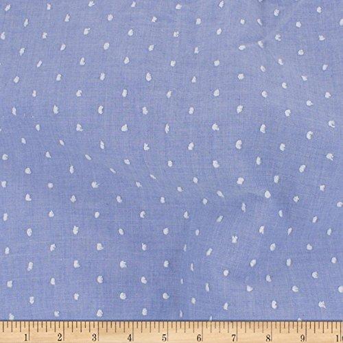 (TELIO Swiss Dot Blue Fabric by The Yard)