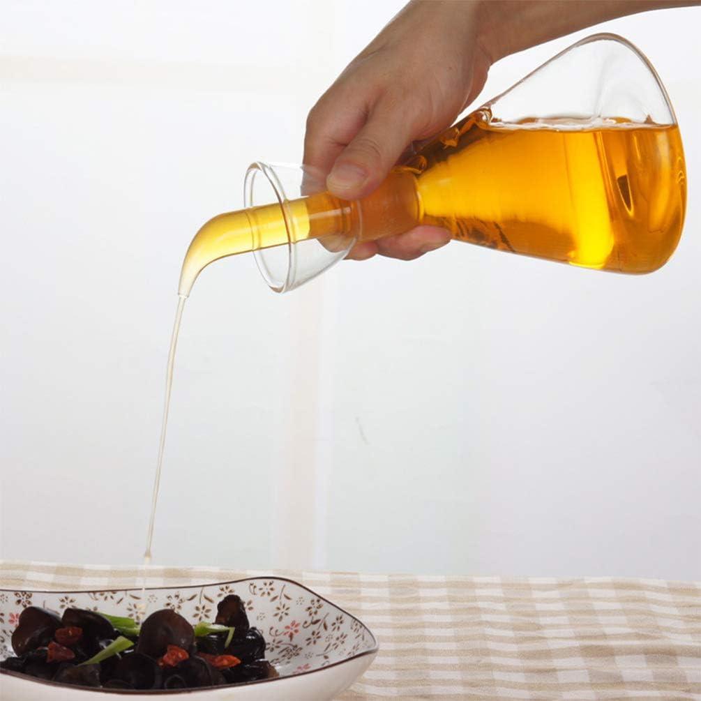 Hemoton Huilier en verre anti-goutte avec bec verseur Huile et vinaigre 250 ml Taglia 2 Immagine 1