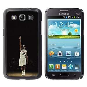 EE.UU. 10 de Baloncesto - Metal de aluminio y de plástico duro Caja del teléfono - Negro - Samsung Galaxy Win I8550