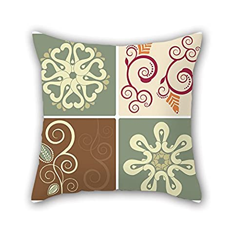 PILLO Color Block Throw Cushion Covers 16 X 16 Inches / 40 By 40 Cm Best Choice For Monther,outdoor,relatives,indoor,wedding,sofa With Both (Dhd External)