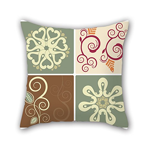 PILLO Color Block Throw Cushion Covers 16 X 16 Inches / 40 By 40 Cm Best Choice For Monther,outdoor,relatives,indoor,wedding,sofa With Both Sides