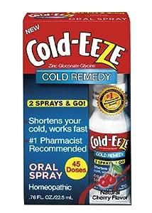 Cold-Eeze Oral Spray, Natural Cherry Flavor, 0.76 Ounce