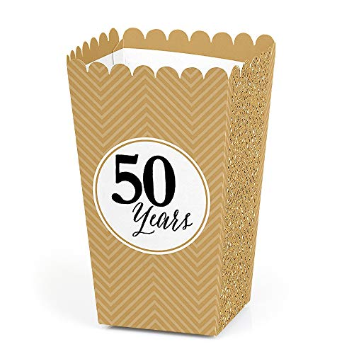 We Still Do - 50th Wedding Anniversary Party Favor Popcorn Treat Boxes - Set of -