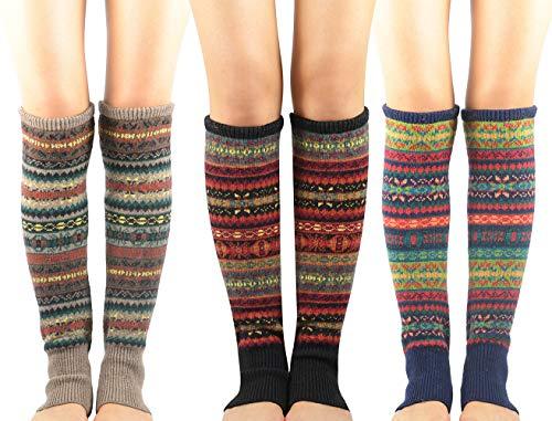 Zando Women Girls Bohemian Long Leg Warmer