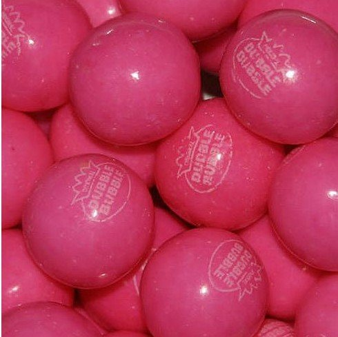 Dubble Bubble Pink Lemonade 24mm Gumballs 1 Inch, 1 Pound Approximately 55 Gum Balls. (Lemonade Gumballs)