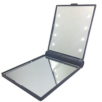 Amazon.com: Portable mirror LED Travel Makeup Mirror,1X & 2X ...