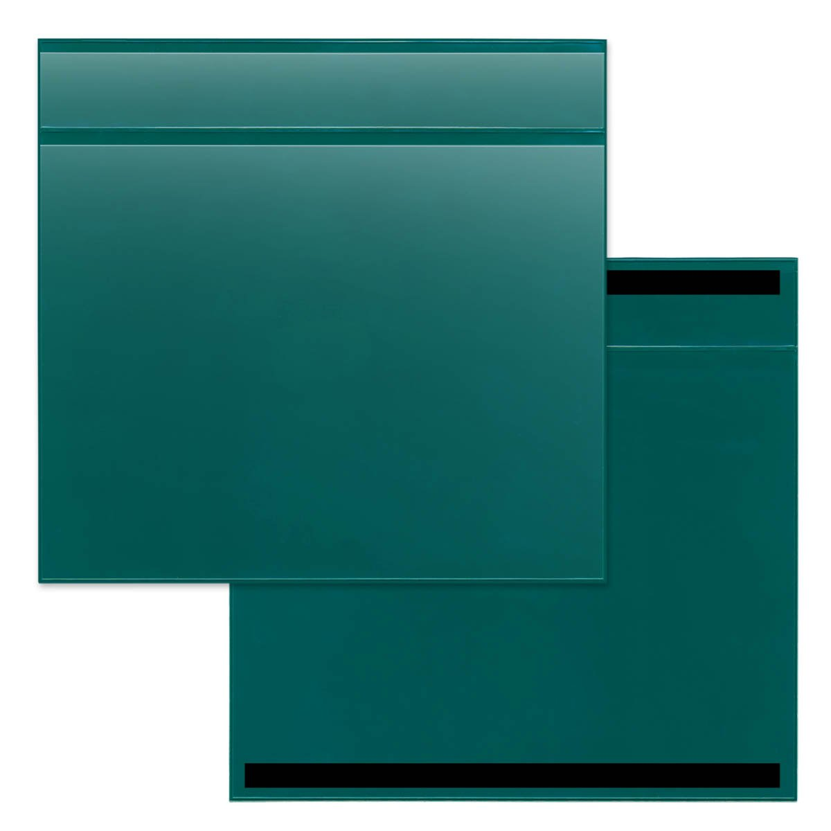 STORE SMART - 25-Pack Green Document Holder with Title Pocket - Horizontal - R529PQGM-25