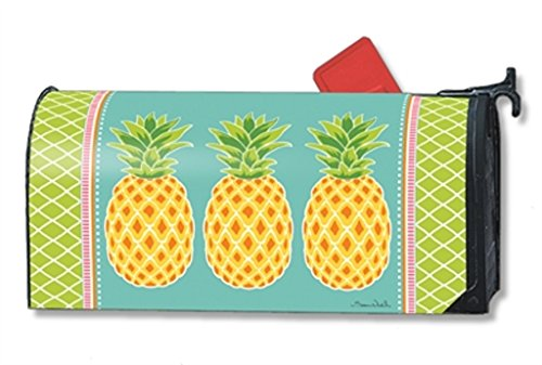 MailWraps Preppy Pineapple Mailbox Cover 01473 Mailwraps Pineapples