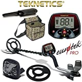 Teknetics Eurotek Pro Metal Detector with Coil Cover Rain Cover Pouch PinPointer