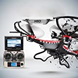 Womail JJRC H8D 6-Axis Gyro 5.8G FPV RC Quadcopter Drone HD Camera With Monitor