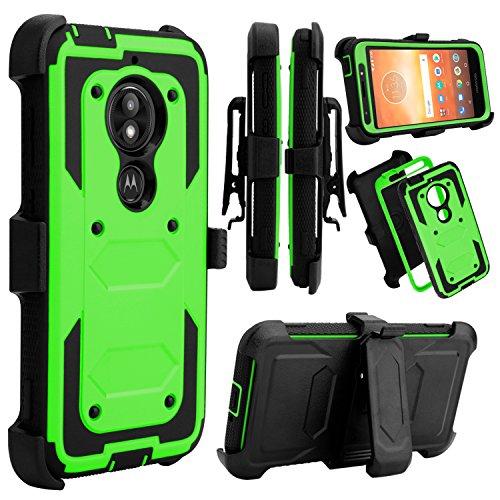 Venoro Moto E5 Play Case, Moto E5 Cruise Case, Heavy Duty Shockproof Full Body Protection Case Cover with Swivel Belt Clip and Kickstand for Motorola Moto E5 Play/Moto E5 Cruise (Green)